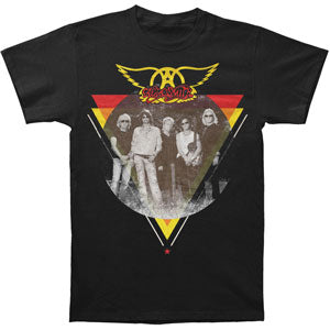 Aerosmith Men's  Triangle/Circle Photo T-shirt Black