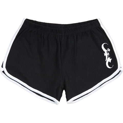 Emmure Women's  Logo Booty Shorts Black