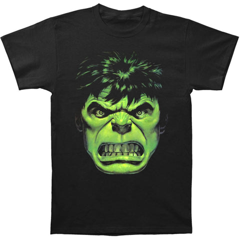 Incredible Hulk Men's  Angry Face T-shirt Black