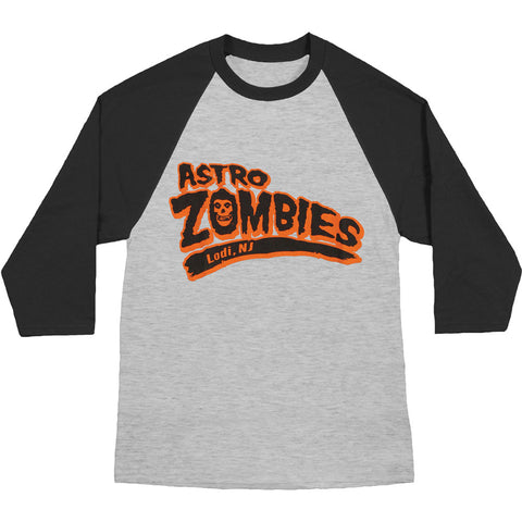 Misfits Men's  Astro Zombies Baseball Jersey Heather/Black