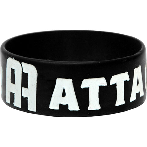 Attack Attack! Men's AA Logo Rubber Bracelet Black