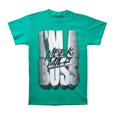 Meek Mill Men's  I'm A Boss Slim Fit T-shirt Green