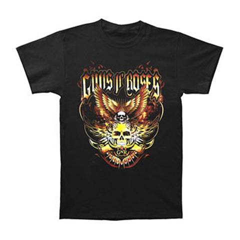Guns N Roses Men's  Wings 2011 Tour T-shirt Red Rockabilia