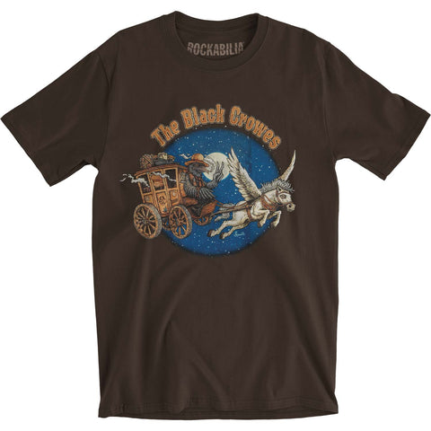 Black Crowes Men's  Stage Coach Slim Fit T-shirt Brown