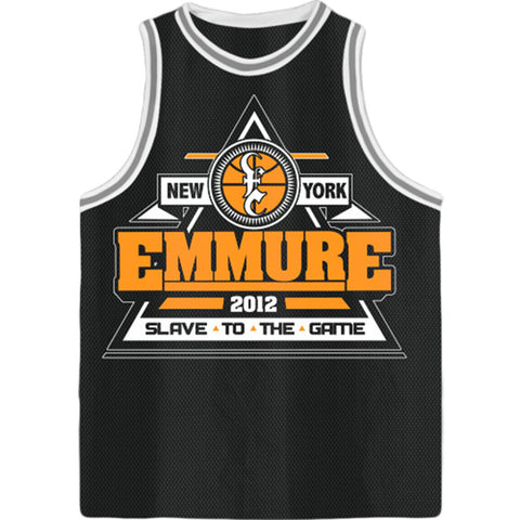 Emmure Men's  Game Over Basketball  Jersey Black