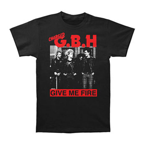 G.B.H. Men's  Give Me Fire T-shirt Black