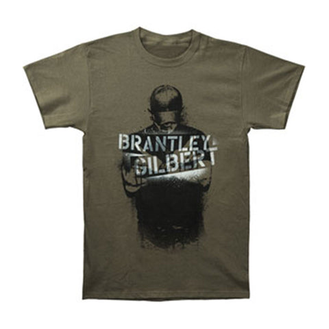 Brantley Gilbert Men's  Spray Photo T-shirt Olive