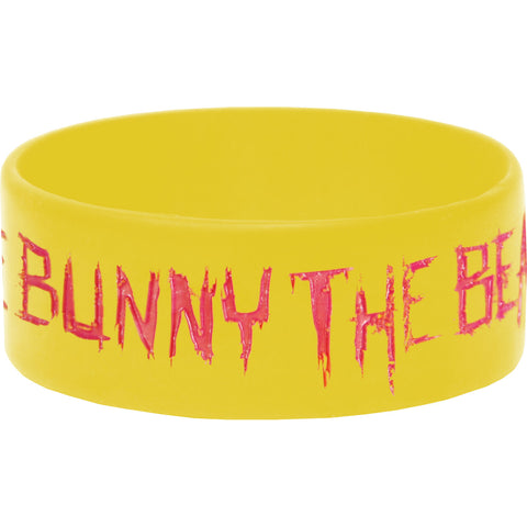 Bunny The Bear Men's Pink And Green Rubber Bracelet Green