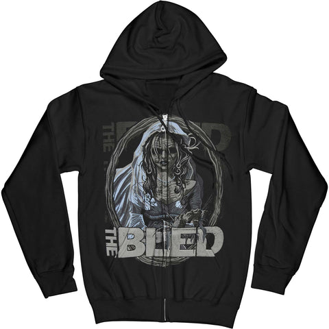 The Bled Men's  The Bride Zippered Hooded Sweatshirt Black