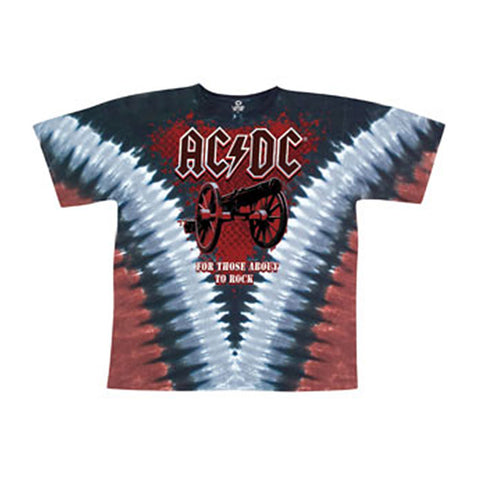 AC/DC Men's  Cannon V Dye Tie Dye T-shirt Multi