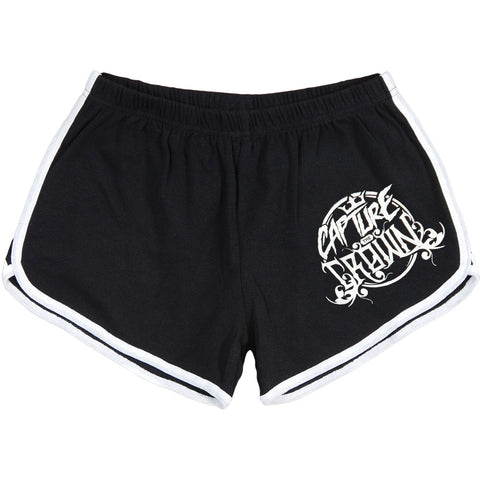 Capture The Crown Women's  Rage Booty Shorts Black