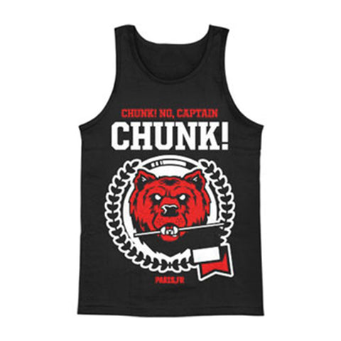 Chunk! No Captain Chunk Men's  Bear Mens Tank Black Rockabilia