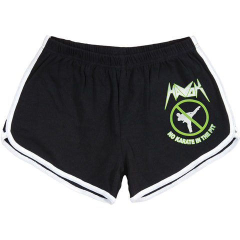 Havok Women's  No Karate In The Pit Booty Shorts Black Rockabilia