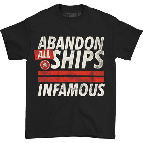 Abandon All Ships Men's  Infamous T-shirt Black Rockabilia