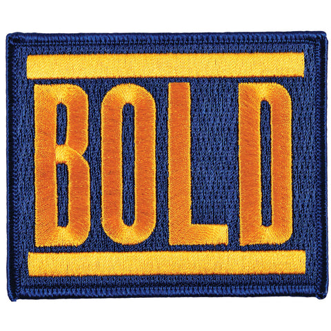 Bold Men's Logo Embroidered Patch Orange