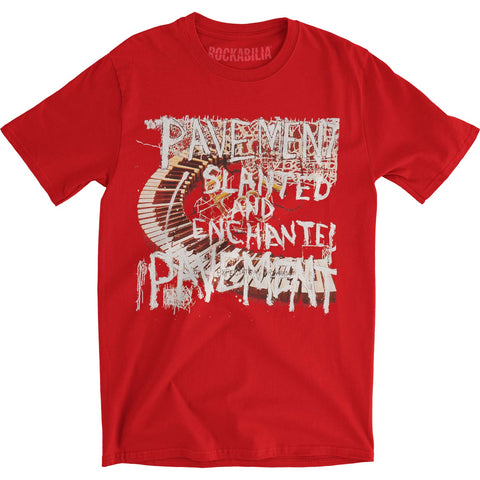 Pavement Men's  Slanted And Enchanted Slim Fit T-shirt Red