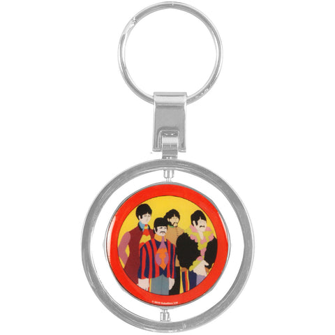 Beatles Yellow Submarine Spinner Key Chain Multi
