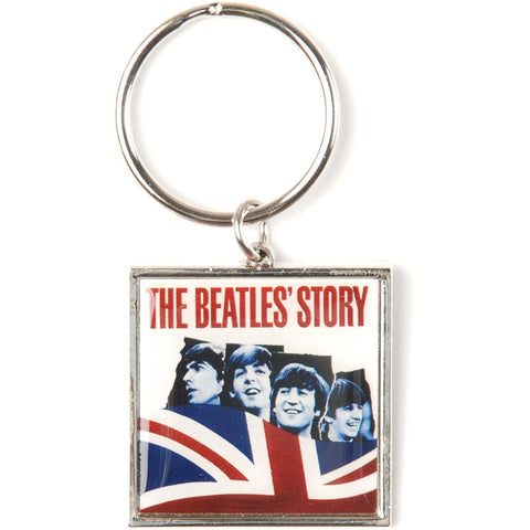 Beatles The Beatles Story Photo Metal Key Chain Silver