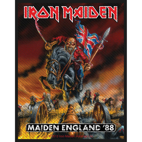 Iron Maiden Men's Maiden England Woven Patch Black