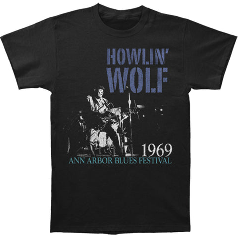 Howlin' Wolf Men's  Center Stage Vintage T-shirt Black