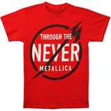 Metallica Men's  Never Red T-shirt Red