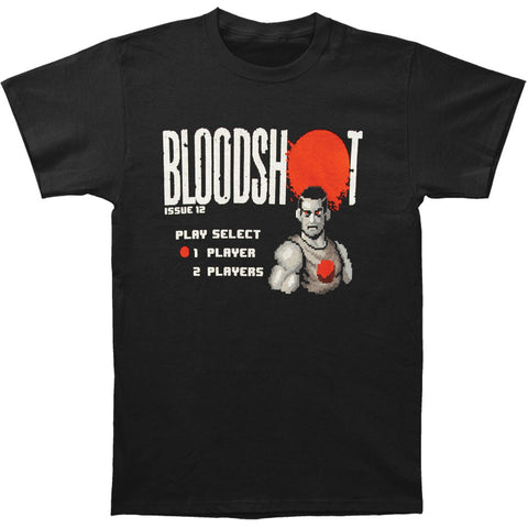 Bloodshot Men's  8-Bit Slim Fit T-shirt Black Rockabilia