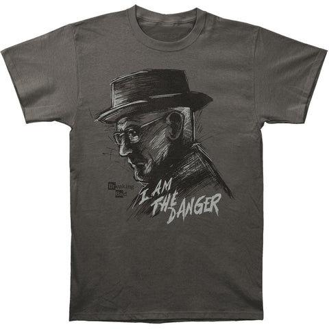 Breaking Bad Men's  I Am Danger Slim Fit T-shirt Grey