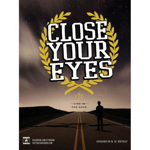 Close Your Eyes Concert Promo Poster