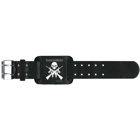 Iron Maiden Men's  A Matter Of Life And Death Wristband Black