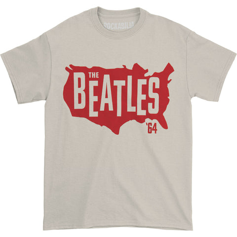 Beatles Men's  '64 America T-shirt Off-white Rockabilia