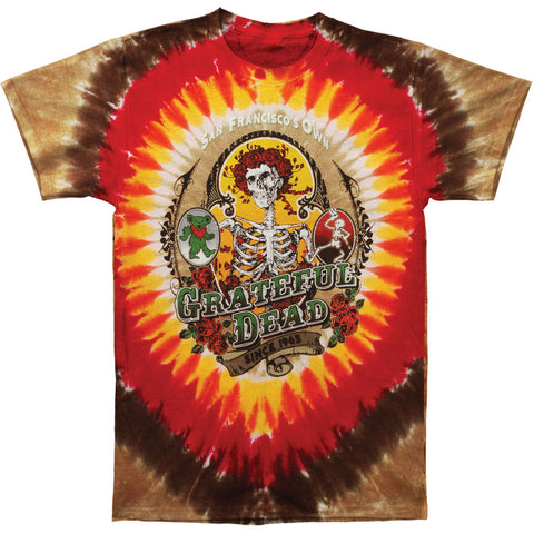 Grateful Dead Men's  Bay Area Beloved Tie Dye T-shirt Multi