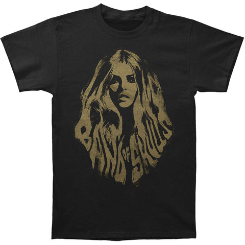 Band Of Skulls Men's  Hair T-shirt Black Rockabilia