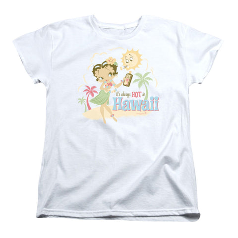 Betty Boop  Hot In Hawaii Girls Jr White