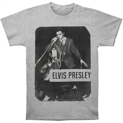 Elvis Presley Men's  Standing With Mic Mens T T-shirt Sport