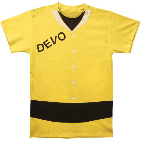 Devo Men's  Duty Now Suit Subway T-shirt Yellow