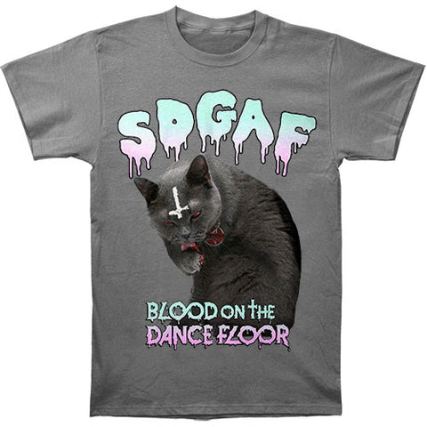 Blood On The Dance Floor Men's  SDGAF Cat T-shirt Silver