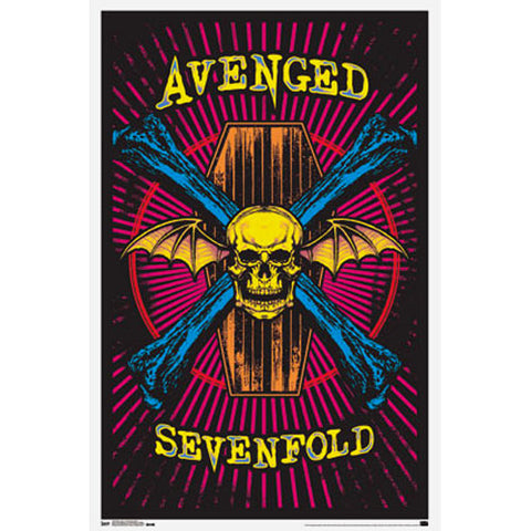 Avenged Sevenfold Blacklight Poster