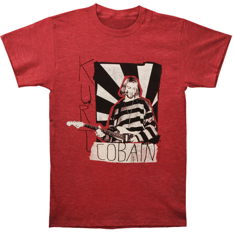 Nirvana Men's  Striped Sweater Slim Fit T-shirt Red