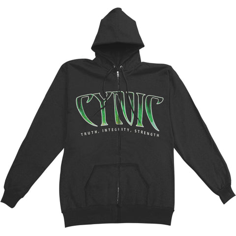 Cynic Men's  Focus Zippered Hooded Sweatshirt Black