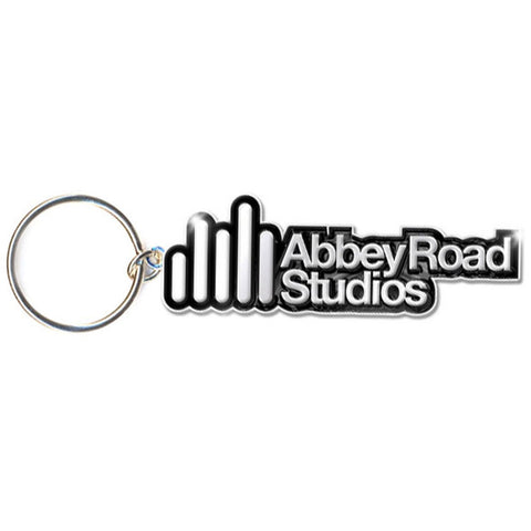 Beatles Logo Metal Key Chain Silver