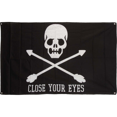 Close Your Eyes Poster Flag
