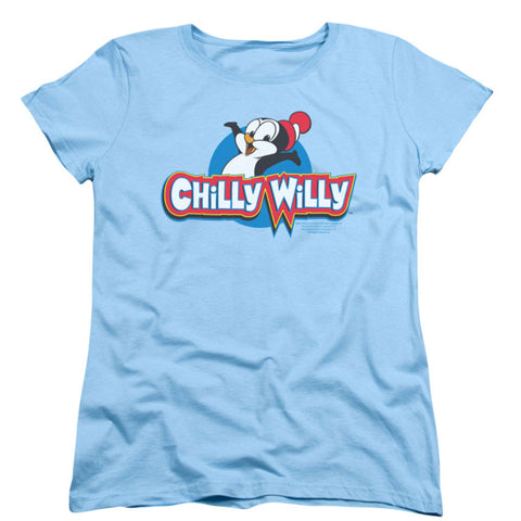 Chilly Willy  Logo Girls Jr Blue