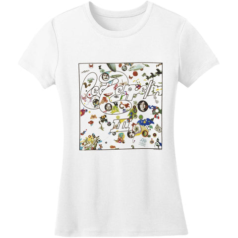 Led Zeppelin  Led Zep III Junior Top White