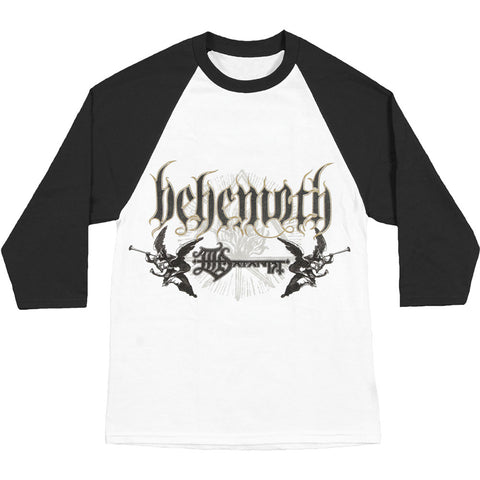 Behemoth Men's  Logo Baseball Jersey White Rockabilia