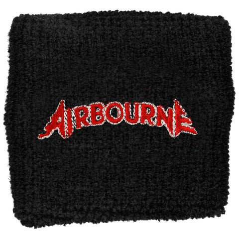 Airbourne Men's Logo Athletic Wristband Black