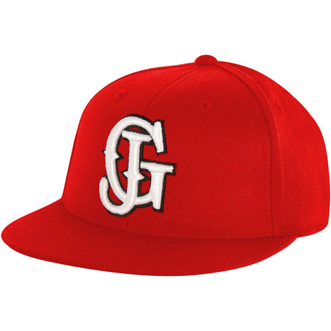 Glassjaw Men's  Red With White And Black Flatbrim Baseball Cap Red