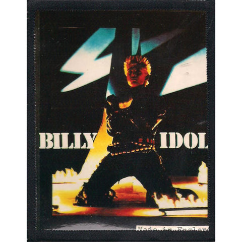 Billy Idol Men's Photo Photo Patch Black