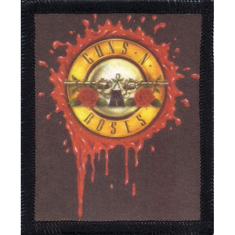 Guns N Roses Men's Bleeding Logo Screen Printed Patch Black