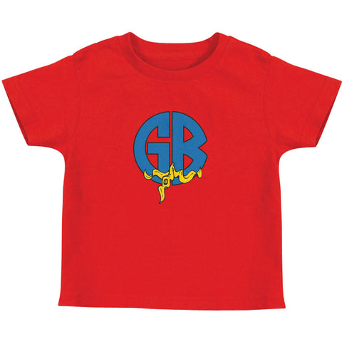Gorilla Biscuits Boys' Banana Logo Childrens T-shirt Red