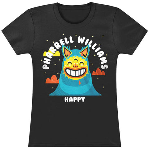 Pharrell Williams  Happy Tissue T Junior Top Black